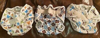 Lot of 3 Thirsties Diaper Covers size two Preowned Duo Wrap 18-40lbs~9-36 Month