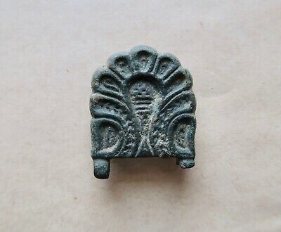 Byzantine decorated bronze buckle, as found. A rare and excellent artifact!