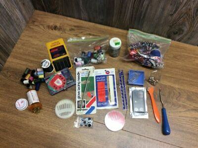 Lot Of Vintage Miscellaneous Sewing Materials And Tools J7