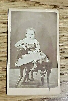 """Antique Early 1900's Victorian Era Gown 3 year old signed Emily Claire 4""""x 3"""""""