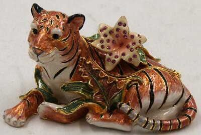 Fitz Floyd Exotic Jungle Collection Tiger Cache Box **Excellent Condition**