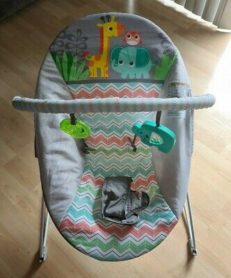 Baby Bouncer Safari Vibrating Bouncer with Toy Bar by Bright Starts
