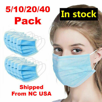 (10/20/10000) Pack - 3PLY Face Mask Medical Surgical Dental Medical Respiratory