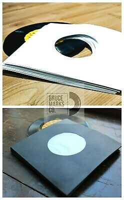 25 RECORD SLEEVES FOR 7″ VINYL - BLACK POLY 140 GSM & WHITE SLEEVES 45RPM EPs