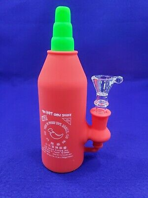 """6.5"""" Collectible """"Hot Chili Sauce"""" Silicone TOBACCO Smoking Hand Pipe"""