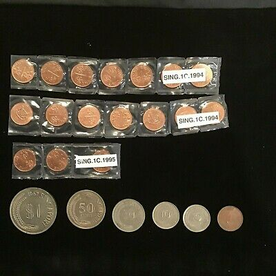 Vintage Singapore Coin Collection Old Coins