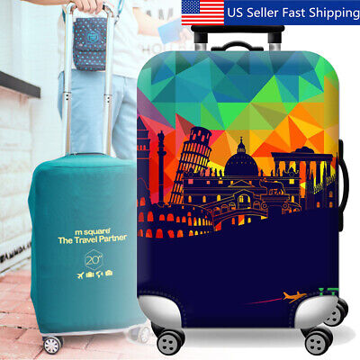 Golden Carps Travel Luggage Cover Stretchable Polyester Suitcase Protector Fits 18-20 Inches Luggage