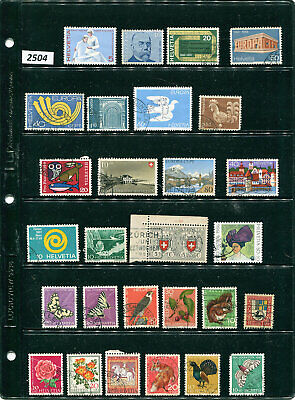 2504-6--SWITZERLAND-105 used/MNH stamps-various years-Mixed Condition (3 scans)