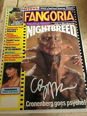 Fangoria Magazine ... Signed By Clive Barker!!!!