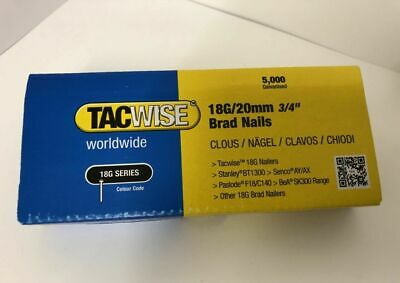 """Tacwise 18G/20mm 3/4"""" Brad Nails Pk Of 5000 2-3 day delivery"""