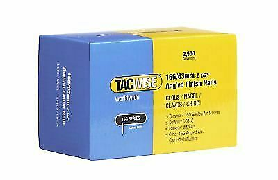 "Tacwise 16G Angled Finished Nails 63mm (2 1/2"")  0773 Galvanised Box Of 2500"