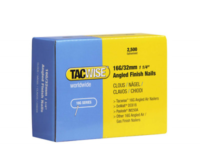 "Tacwise 16G Angled Finished Nails 32mm (1 1/4"")  0769 Galvanised Box Of 2500"
