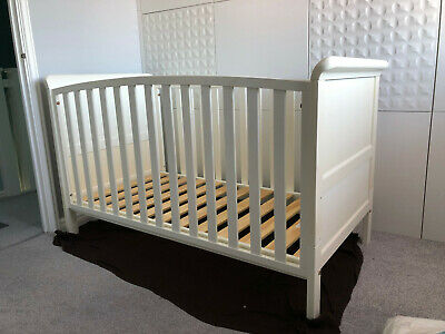 Sleigh Cot Bed with Under Bed Drawer - white