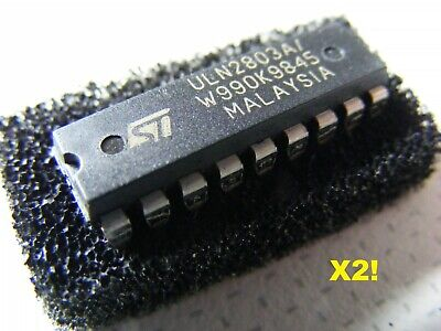 UK  SELLER:  2x ULN2803A Chips:  8-way Darlington. Prime product no 2nds. 18PDIP