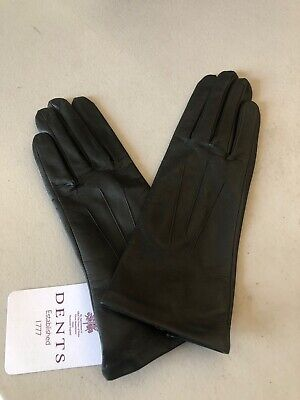 Dents Felicity Women's Silk Lined Leather Gloves Ladies Warm Winter - Size 7