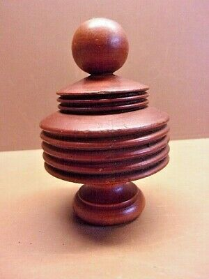"""Vintage Nicely Turned Wooden Finial Furniture Part Clock Post 4"""" x 2 1/2"""" LQQK!"""