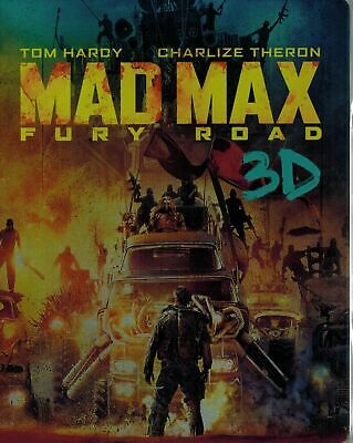 MAD MAX FURY ROAD ( Tom Hardy ) 3D+ 2D BLU RAY in Steelbook Case