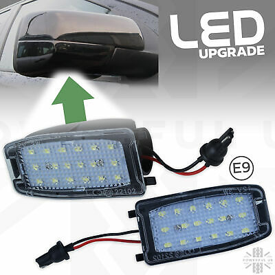 2xLED under mirror welcome puddle light for Land Rover Freelander 2 lamp Upgrade