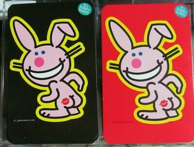 OFFICIALLY LICENSED*2 Decks Of Jim Benton IT'S HAPPY BUNNY Playing Cards!