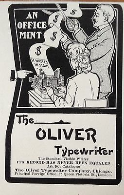 1904 Ad (F20)~The Oliver Typewriter Co. Chicago.
