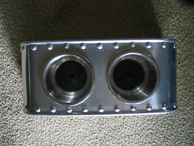 COOL! Center console for bomber seats, double cup holders, Solid Rivets! Vintage