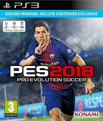 Pes 2018, Ps3 (Playstation 3), Castellano, Store España (No Disco)