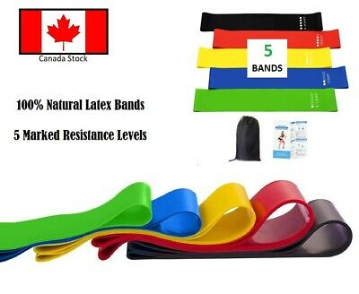 NEW 5 Resistance Bands Loop Exercise Fitness Yoga Strengthening Weight Loss