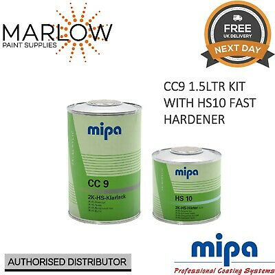 Mipa Cc9 Hs Klarlack Clearcoat Lacquer With Hs10 Fast Hardener - 1.5Ltr Kit