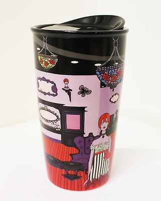 Limited Edition Starbucks Anna Sui Rose Double Wall Ceramic Mug Tumbler Cup NWT