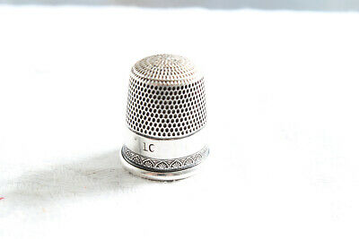 Antique Simon Brothers Sterling Brothers Sterling Silver Thimble Size 10