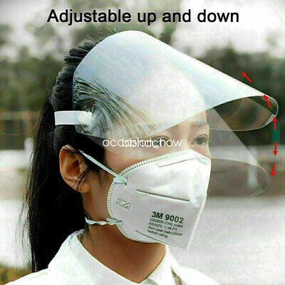 Full Face Covering Anti-Fog Shield Clear Glasses Face Protection UK Seller