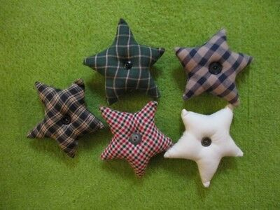 Primitive Hand Made Star Bowl Fillers, Set of 5 Christmas Country Rustic Decor