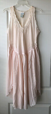Gilligan & O'Malley Lightweight Pink Chemise Sleepwear Trim Detail Women's Sz M