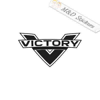 2x Victory Motorcycles Logo Vinyl Decal Sticker Different colors /& size for Cars