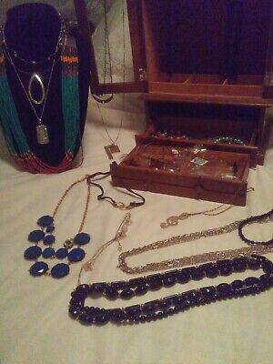 Jewelry Box Full Of Vintage To Modern Jewelry Lot Estate 40 Pieces