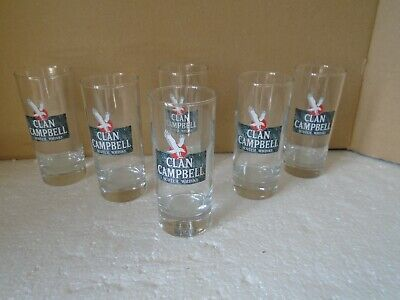 6 VERRES TUBE CLAN CAMPBELL , neufs