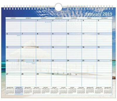 "Office Depot Brand Monthly Wall Calendar, 15"" x 12"", Paradise, January to Decem"