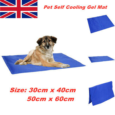 Pet Self Cooling Cool Gel Mat Dog Cat Heat Relief Large Non-Toxic Summer Cool Uk