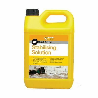Everbuild 406 Stabilising Solution Quick Drying 5 Litre Paint Masonary Surface