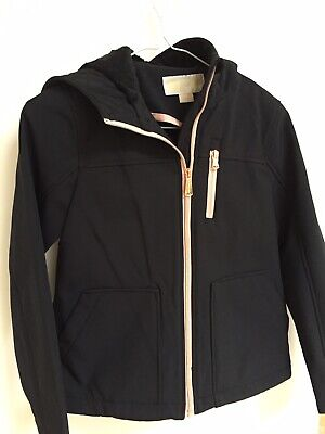 •Michael Kors, Girls Black Hooded Jacket, Aged 5-6 New With Tags