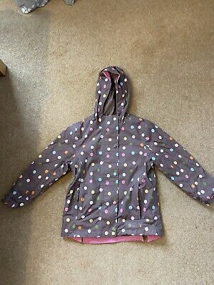 Girls Spotted Joules Raincoat Age 7 Years