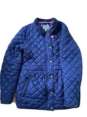 Joules girls navy blue winter coat jacket age 11-12years