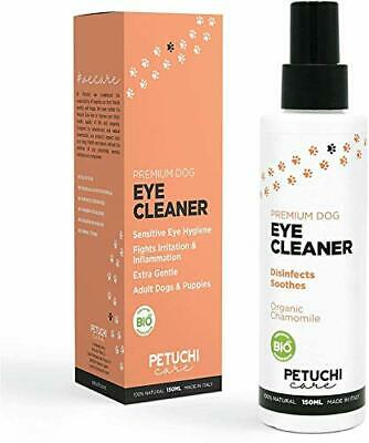 PETUCHI Spray Eye Drops for Dogs; Disinfects and Soothes; Organic; Gentle