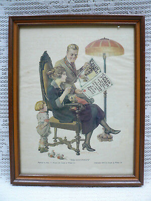 """Vtg 1922 Print Ad """"The Best Policy"""" by Edw. Brewer for Cream of Wheat Co 11x14"""