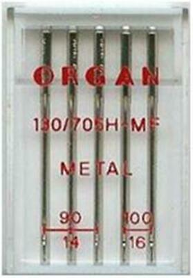 Organ Sewing Machine Needles Domestic Metalic Mix Pack Fits Janome, Brother