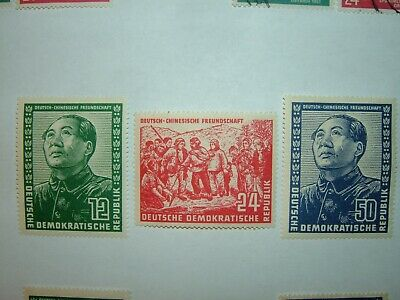 1951 EAST GERMANY/DDR FRIENDSHIP CHINA SET of 3 MINT HINGED (sgE43/5) CV £350