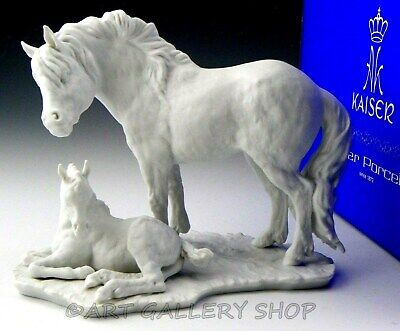 Kaiser Germany Figurine #488 HORSES MOTHER & FOAL PONY GROUP W. Gawantka Ltd Ed.