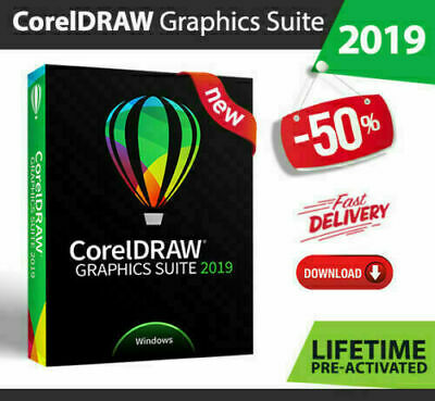 ✅ Corel Draw graphics suite 2019 Lifetime 🔥 Activated Full Version Fast Deliver