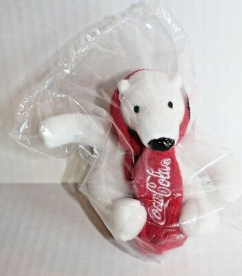 Arctic Home WWF Plush Mini Coca-Cola Polar Bear Collectible Stuffed Animal NEW