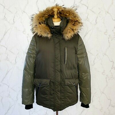 Marc New York by Andrew Marc Mens Niagra Down Parka W//Removable Faux Fur Trimmed Hood